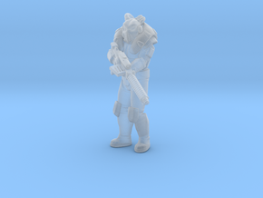 Task Suit with Guass Rifle  in Smooth Fine Detail Plastic