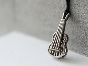 Guitar steel pendant in Stainless Steel