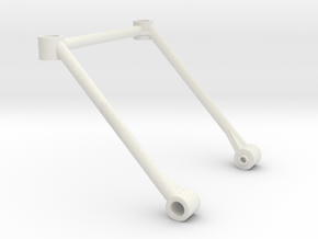 M03 Rear Body Post Support (M05 Posts) in White Natural Versatile Plastic