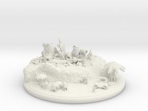 Space egg hunt adventure (a SLINGSHOT diorama) in White Natural Versatile Plastic