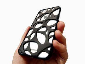iPhone 6 / 6S Case_Voronoi in Black Natural Versatile Plastic
