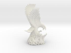 Eagle & Cobra Sculpture, Air Force Museum Vietnam in White Natural Versatile Plastic: Small