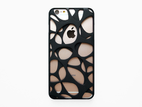 iPhone 6 plus / 6S plus Case_Voronoi in Black Natural Versatile Plastic