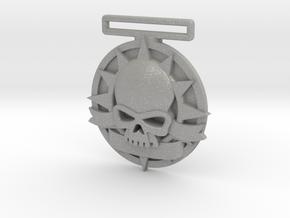 Small Tournament Medal : Blank Halo Skull  in Aluminum