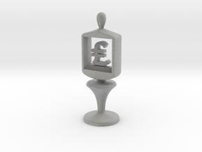 Currency symbol figurine,Pound in Metallic Plastic
