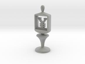 Currency symbol figurine,Yen in Metallic Plastic
