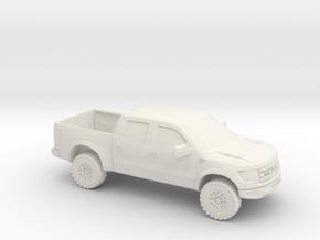 1/87 2011 Ford Raptor Super Crew in White Natural Versatile Plastic