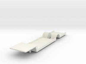 NVM  bus oplegger bodemplaat Schaal 1:120 in White Natural Versatile Plastic