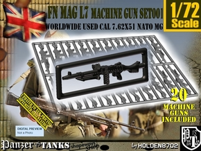 1/72 FN MAG L7 Set001 in Smoothest Fine Detail Plastic