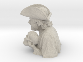 Morris the Pirate Pen Stand in Natural Sandstone: Small