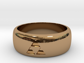 triforce ring size 9 mens in Polished Brass