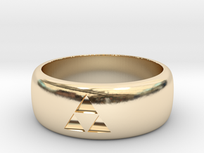triforce ring size 9 mens in 14k Gold Plated Brass