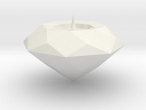 Gem Top in White Natural Versatile Plastic