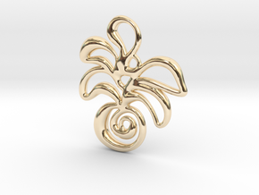 Tropical island in 14K Yellow Gold