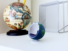 Bubble Chair: Planet Earth/Globe/Map (1:24 Scale) in Full Color Sandstone