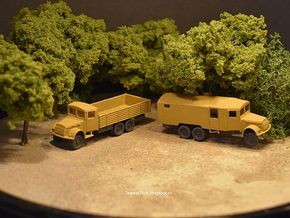 1/144 set of 2 Tatra trucks T111 in White Natural Versatile Plastic