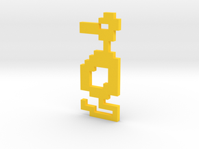 8-Bit Atari Adventure Dragon - Lurking Pose in Yellow Processed Versatile Plastic: Medium
