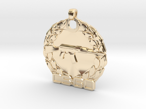 CS:GO Master Guardian Pendant in 14k Gold Plated Brass