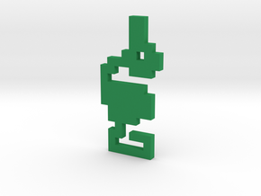 8-Bit Atari Adventure Dragon - Slain Pose in Green Processed Versatile Plastic: Medium