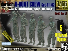 1/56 German U-Boot Crew Set411-02 in Smooth Fine Detail Plastic