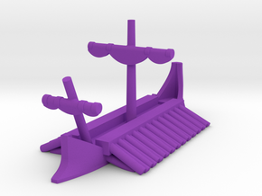 1/1200 Phoenician Trireme Game Pieces in Purple Processed Versatile Plastic: Extra Small