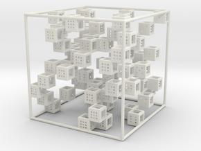 3D SUDOKU puzzle in White Natural Versatile Plastic