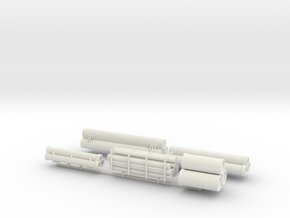 Construction Yard Pipe Materials Sprue  in White Natural Versatile Plastic
