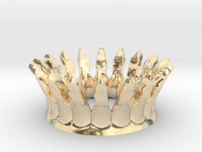 Eggcessories! Crown in 14k Gold Plated Brass
