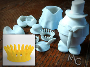 Eggcessories! Crown in White Natural Versatile Plastic