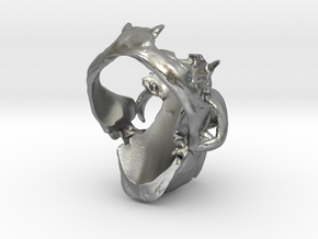 Horned Bobcat Ring in Natural Silver: 9 / 59