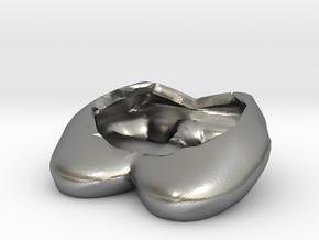 Eggcessories! Egg Heels in Natural Silver