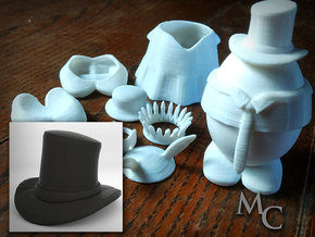 Eggcessories! Top Hat in White Natural Versatile Plastic
