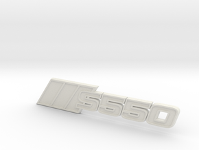 Ford Mustang S550 Tri-Bar Fender Badge in White Natural Versatile Plastic
