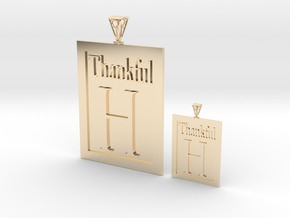 Thankful H Couple's Pendants in 14k Gold Plated Brass