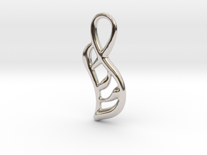 Geometry of leaf in Rhodium Plated Brass
