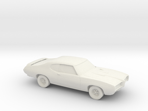 1/87 1969 Pontiac GTO in White Natural Versatile Plastic