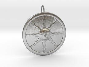 Sunlight Pendant for Large Chains in Natural Silver (Interlocking Parts)