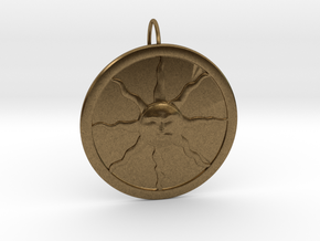 Sunlight Pendant for Large Chains in Natural Bronze (Interlocking Parts)
