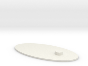 5MM Peg Stand in White Natural Versatile Plastic