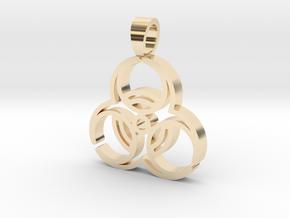 Biohazard [pendant] in 14K Yellow Gold