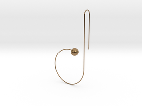 b earring in Natural Brass