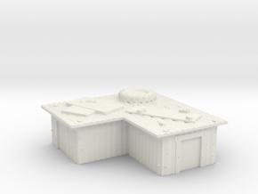 L-shaped tin slum  in White Natural Versatile Plastic