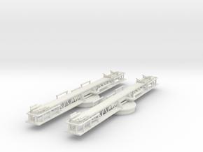 Best Cost 1/144 USN P-6 Catapult Set in White Natural Versatile Plastic
