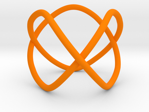 Trefoil as a 3-fold cover of the unknot in Orange Strong & Flexible Polished
