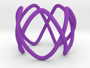 Pentafoil as a 5-fold cover of the unknot in Purple Processed Versatile Plastic