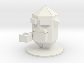 Crystal (nuclear throne)  in White Natural Versatile Plastic: Small