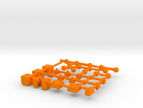 Basic Ball Joint Sprue Small Scale in Orange Processed Versatile Plastic