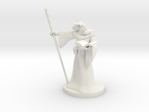 Minotaur Wizard in White Natural Versatile Plastic