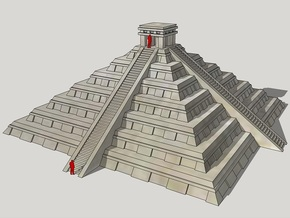 3mm Chichen Itsa-Style Pyramid in White Natural Versatile Plastic