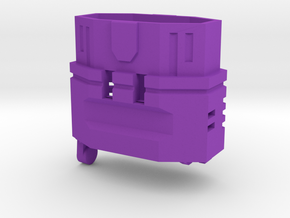 MechFansToys Laserwave G1 Barrel / Backpack in Purple Processed Versatile Plastic